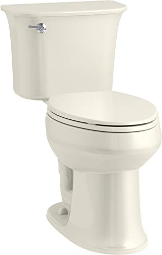 KOHLER K-4774-96 Brevia Elongated Toilet Seat with Quick-Release Hinges and Quick-Attach Hardware for Easy Clean in Biscuit by Kohler (Image #3)
