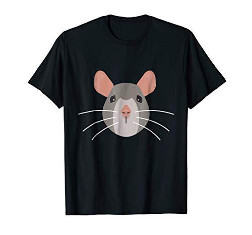 Mens Cute Mouse Face T Shirt Easy Halloween Costume Adults Kids Medium Black