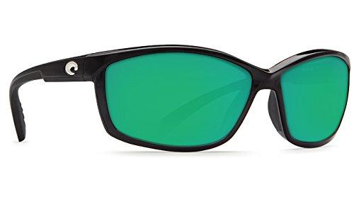 Costa Del Mar Manta 400G Manta, Shiny Black Green Mirror, Green Mirror