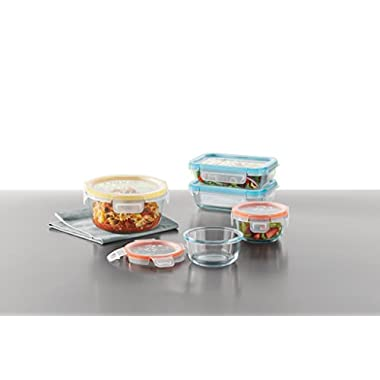 Snapware Airtight & Leakproof Pyrex Glass Food Keeper Set 10-PC