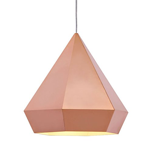 Zuo 50174 Forecast Ceiling Lamp, Rose Gold