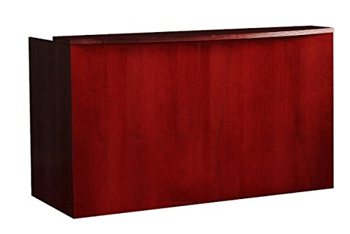Mayline Double Pedestal Reception Desk 72''W X 36''D X 43.25''H Include Two Pedestals, One Box/Box/File & One File/File - Maple