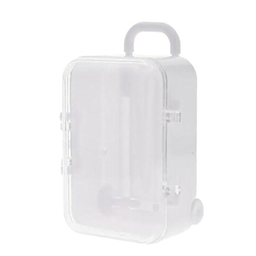 Notebook Wedding Favors - AIMTOPPY Lunch Bag, Mini Rolling Travel Suitcase Box Wedding Favors Party Reception Candy Toy (White, free)