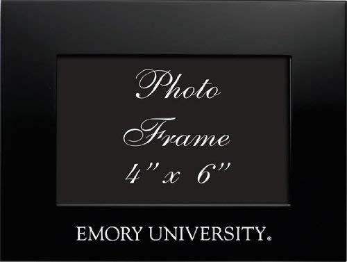 Emory University Black 4x6 Brushed Metal Picture Frame