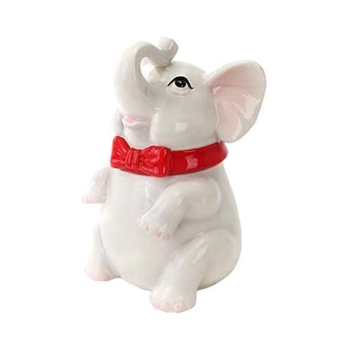 Elephant Cookie Jar<br>Ceramic<br>6 1/2 x 6 x 9 1/2H Inches