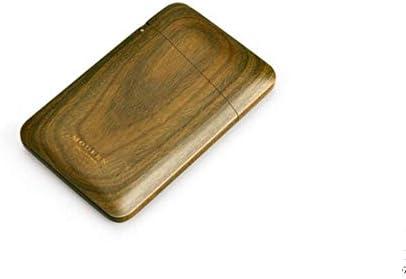 XOTF Holzvisitenkartenhalter, tragbare High-End ultra-dünner Visitenkarte Fall (Farbe : B)