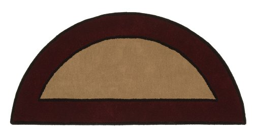 Minuteman International Contemporary II Berry Half Round Wool Hearth Rug