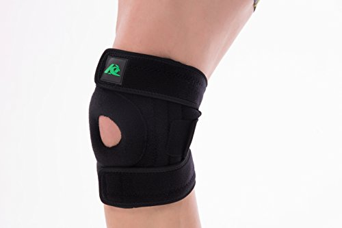 KANGDA Adjustable Knee Brace Open Patella Support With Veclro for Arthritis, ACL, MCL, Sports,Exercise,Basketball, Running and Meniscus Tear Unisex Universal by KANGDA