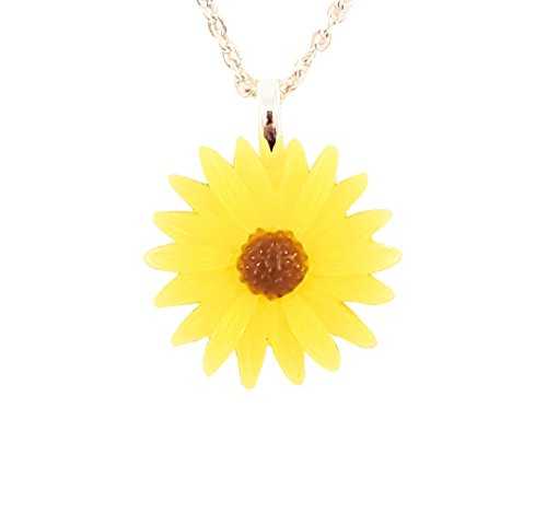 Multipurpose Choker and Necklace Set –Four ways to use Sunflower –16 Inch Adjustable Choker Chain – 20 Inch Necklace Chain, Best Holiday Jewelry Present for Girls Ladies Women- Gifts for women-spring