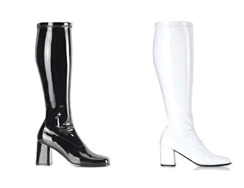 FUNTASMA by Pleaser Gogo-300 Womens Halloween Costume Sixties 60's Dancer Boots Black WIDE -