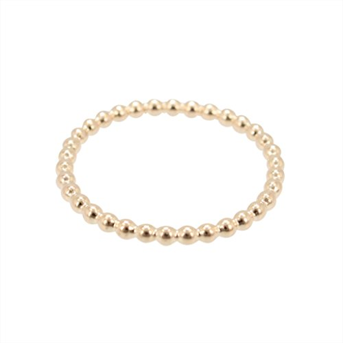 - Delicate Beaded Band Ring in 12kt Gold Fill , #6442 (6)