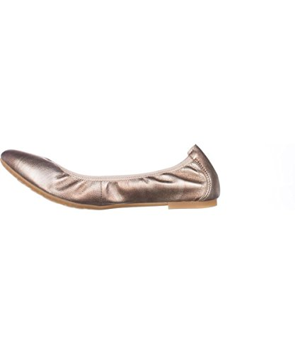 Born Womens Rozalee Closed Toe Ballet Flats, Gold, Size 6.0