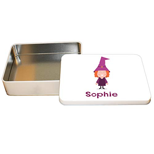 Style in Print Custom Text Personalized Halloween Child Witch Costume Aluminun Trinket Box Metal Tin - 6