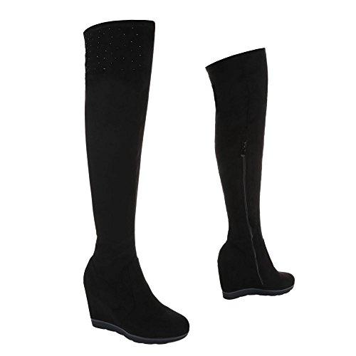 Mujer botas negro Design clásicas Ital 1t57wWqq