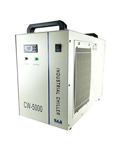 S&A Genuine CW-5000DG Industrial Water Chiller 6L Capacity Cooling Water for 80W/100W CO2 Engraving Cutting Machine