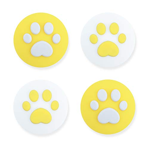 Geekshare 4PCS Silicone Sakura Paw Joy Con Thumb Grip Set Joystick Caps Switch and Switch Lite Cover Analog Thumb Stick Grips (Cat Claw 09)