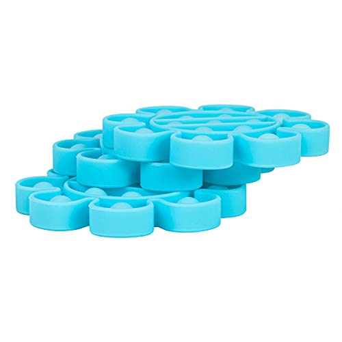 nixo Push Bubble Pop Fidget Toy, Blue, Flower, Pack of 1 Popper Bubble Stress Relief Toy, Perfect Bubble Poppet Sensory Fidget Toy for Kids and Adults, Best Anti-Anxiety ADHD Popping Toy