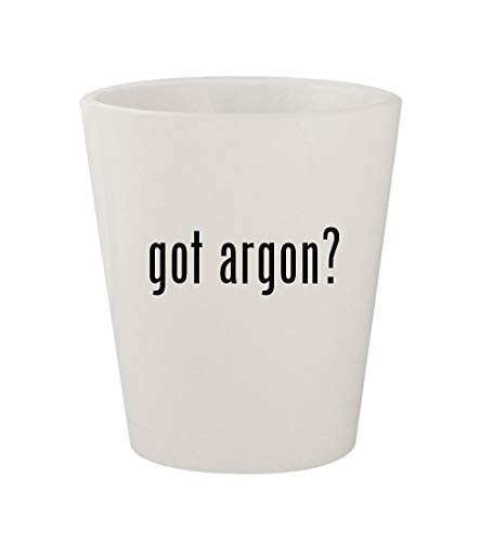 got argon? - Ceramic White 1.5oz Shot Glass