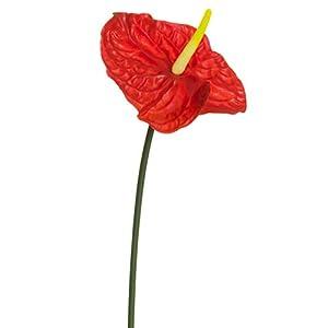 "27.5"" Anthurium Silk Flower Stem -Red (Pack of 12) 117"
