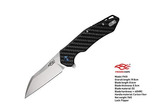 (Ganzo Firebird FH31 Carbon fiber D2 blade G10)