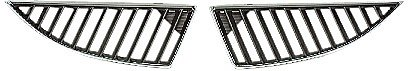 OE Replacement Mitsubishi Lancer Passenger Side Grille Assembly (Partslink Number MI1200249)
