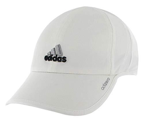 adidas Womens Adizero II Cap, White/Black/Platinum, ONE SIZE