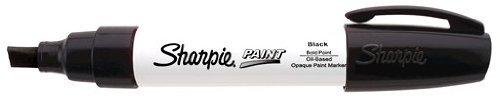 Sharpie Paint Marker Pen Oil Base Bold Point, Black Box of 6 by (Pen Oil Base)