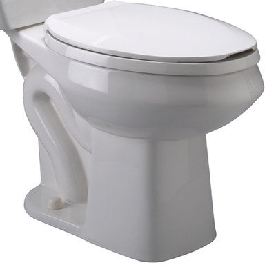 Zurn Z5570-BWL Toilet Bowl Only, Elongated Pressure Assist, for Two-Piece Toilet