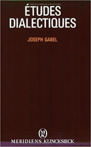 Book ????tudes dialectiques (Hors Collection Meridiens-Klincksieck) (French Edition) by Joseph Gabel (1990-04-01)