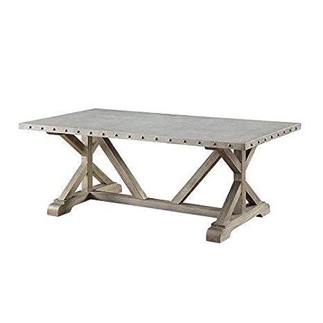 Amazon.com: Coaster Muebles Metal parte superior Industrial ...