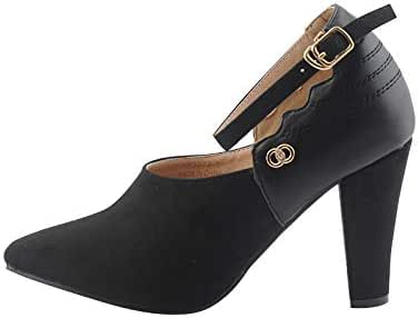 مادلين حذاء رسمي للنساء كعب , اسود , 182273BLK38