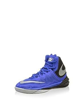 Boy's Nike Prime Hype DF II (GS) Basketball Shoe Royal/Black/Grey/Reflect Silver Size 3.5 M US