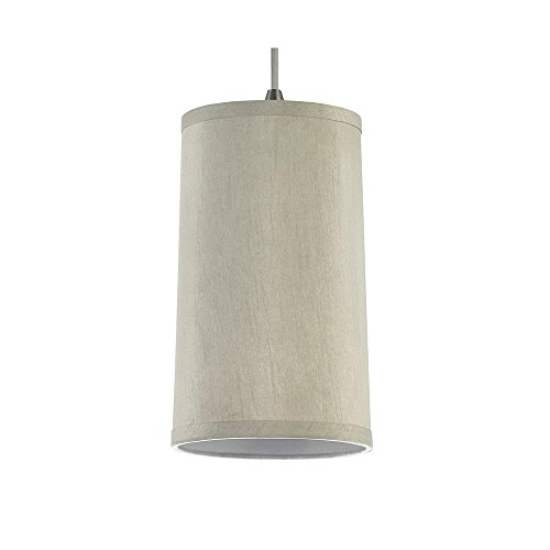 Sea Gull Lighting 94626-989  Satin Nickel Finished Pendant with Oyster Silk Dupion Shades ()