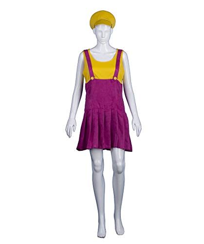 HalloweenPartyOnline Adult Women's Yellow Bad Plumber Costume HC-375