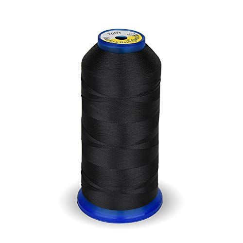 High Strength Polyester Thread Nylon Sewing Thread 1800 Yard Size T70#69 210D/3 for Weaves, Upholstery, Jeans and Weaving Hair, Drapery, Beading, Purses, Leather (Dark Grey)