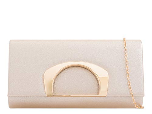 Wedding Sale Clearance LeahWard Women's Clutch Handbags Faux Evening 2228 Champagne Leather Bag 88tFcznwq