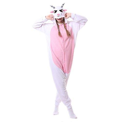 Adult Animal Kigurumi Onesies Goat/Sheep Onesie Costumes (S (150cm-159cm)) (Sheep Onesie For Adults)