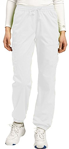 White Cross Allure Tapered Leg Drawstring Scrub Pant(White, L)