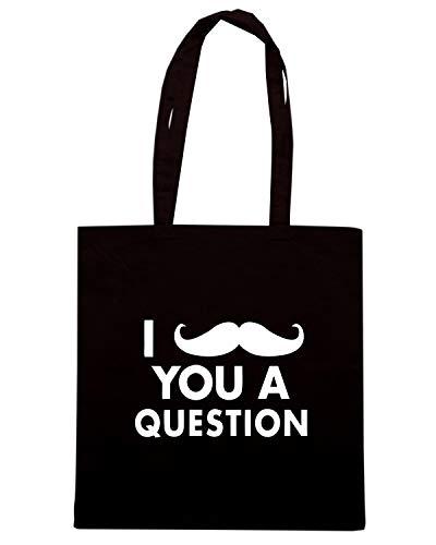 MUSTACHE 2013 QUESTION Nera 04 Shopper 19 FUN0088 Borsa q1pTYww