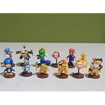Super Mario Bros Wii Collection Toy Figures Penguin Mushroom Star Bowser Princess (13Pcs/Set)