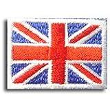 イギリス 国旗 アイロン ワッペン (プチ 約25x18mm)