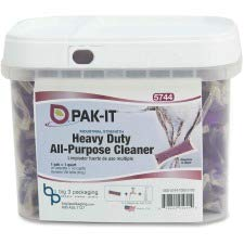 Big 3 Packaging LLC All-Purpose Cleaner, Hvy-Dty, 100Pks, Purple by Big 3 Packaging LLC (Image #1)