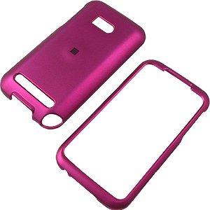 Magenta Shield Case Protector (Magenta Rubberized Shield Protector Case for HTC Imagio)