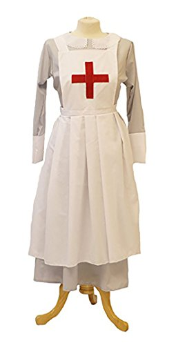 Wartime-WW2-1940's-LARP-Victorian Grey Matron-Nurses Uniform Fancy Dress (UK -
