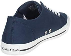 Calvin Klein Homme Sneaker lacé modèle B4S0670 en Cuir Aurelio Marine. Une Chaussure Confortable adapté à Toutes Les Occasions. Printemps Eté 2020 UE 45