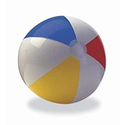 Intex Beach Ball 20 In. Dia 8 Ga Vinyl (2 count): Toys & Games