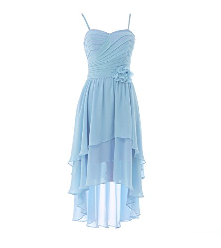 YiYaDawn - Vestido - trapecio - para mujer azul claro