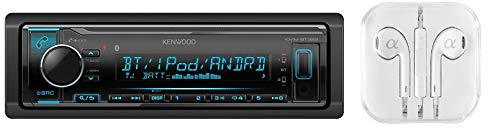 Kenwood KMM-BT322 Bluetooth USB MP3 WMA AM/FM Digital Media Player Dual Phone Connection Pandora Car Stereo Receiver/FREE ALPHASONIK ()