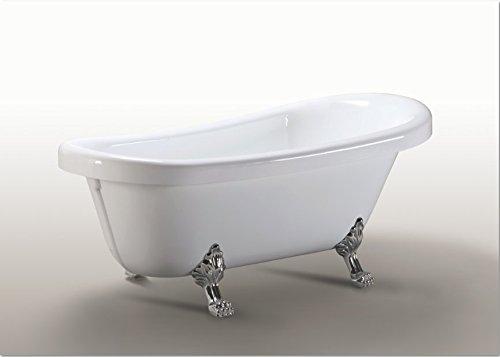 Vasca Da Bagno Vintage Misure : Vasca da bagno margherita freestanding bianca con piedini colore