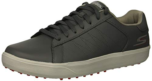 Skechers Men's Drive 4 Golf Shoe, Charcoal/red, 9.5 W US ()